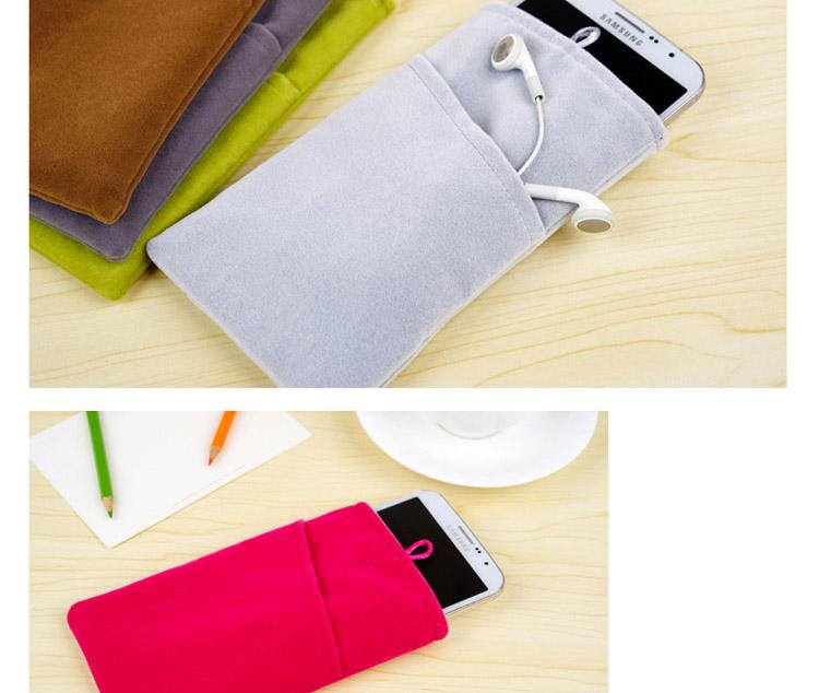 手机布袋子苹果4s5s小米2S三星华为小米移动电源保护套袋绒布