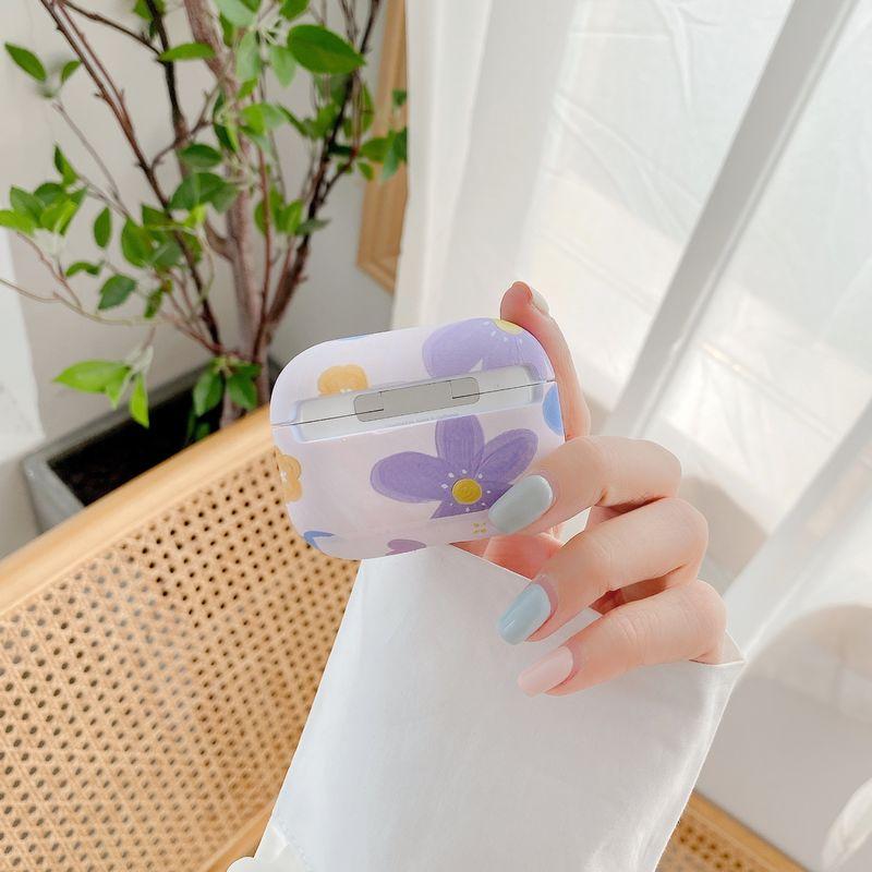 小清新花朵 夜光水贴耳机壳AirPods 2/3代