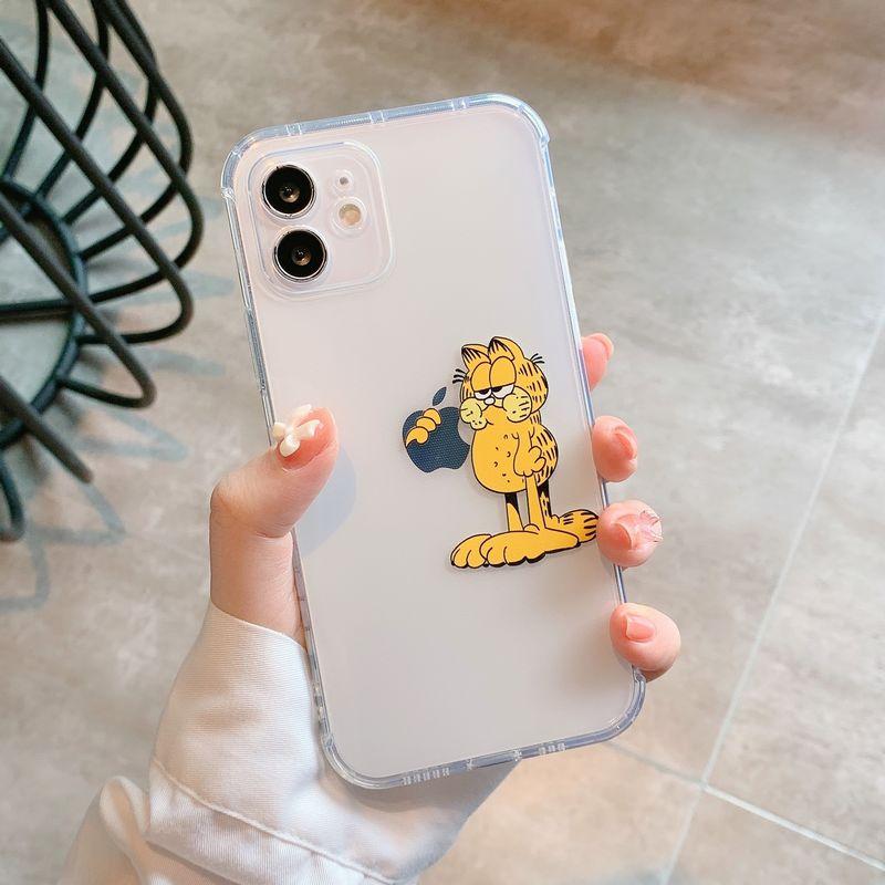 太空壳创意卡通加菲猫iPhone7-iPhone12 Pro Max软壳