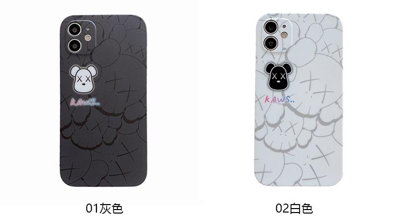 直边IMD精孔手机壳-潮牌多KAWS头iP7-iPhone12 Pro Max软壳