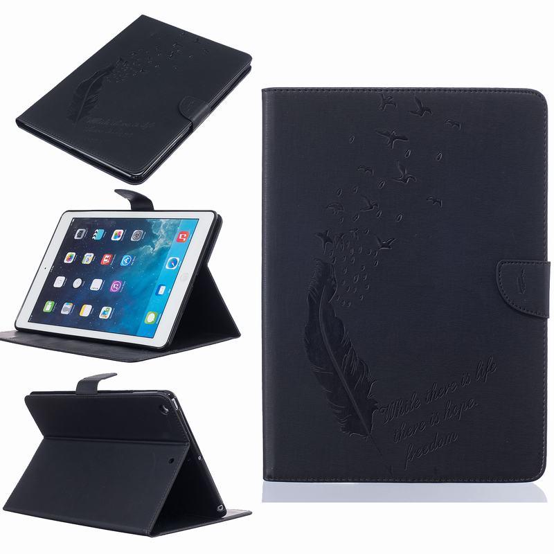 有盖头平板压羽毛小鸟iPad mini1234/iPad 4/5/6/7/8皮套