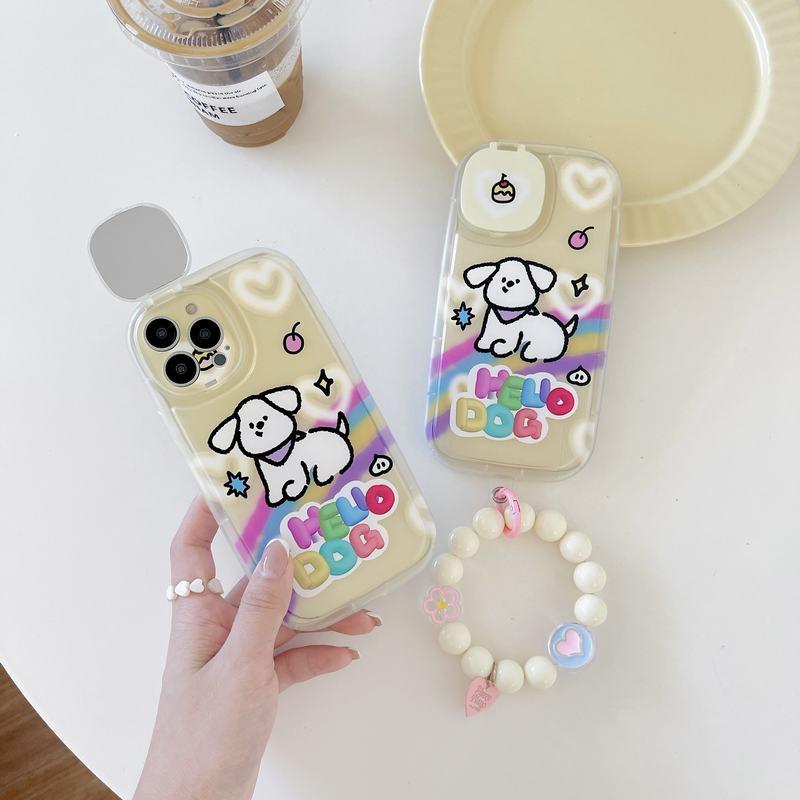 磨砂荧光天使眼有钱鸭iPhoneX-13 Pro Max软壳